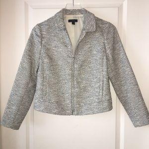 J. Crew   Zip Jacket in black & white Tweed 2